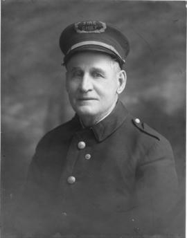 Photographic portrait of Fire Chief Brown