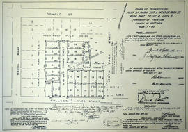 Subdivision of part of Park Lot 1 in the Township of Thurlow