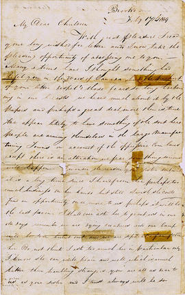 Letter to George Barlow of Belleville