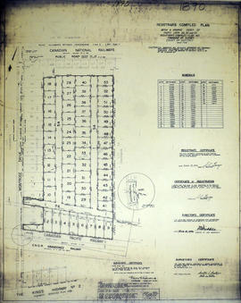 Registrar's Plan of Lots 29, 32-33 in the Township of Sidney