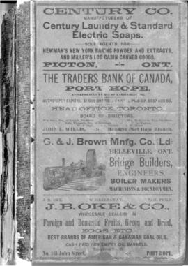 1893 Farmers and Business Directory for the Counties of Durham, Hastings, Lennox, Addington, Nort...