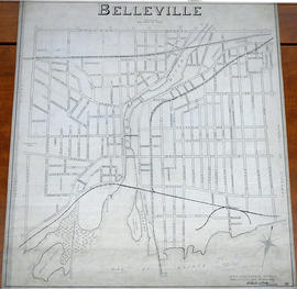 Map of City Streets in Belleville 1940