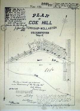 Plan of Coe Hill in the Township of Wollaston
