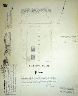 Plan of Randolph Place in the town of Belleville