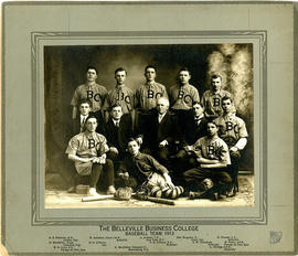 Photograph of Belleville Business College baseball team