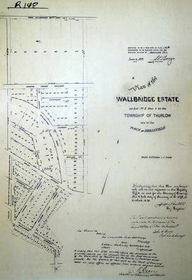 Plan of Wallbridge Estate in the town of Belleville