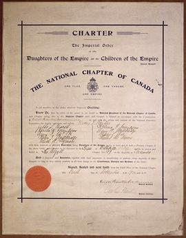 Charter of the Argyll Chapter of the Imperial Order of the Daughters of Empire