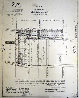 Plan of Blocks J and H in the town of Deseronto