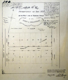 Plan of Subdivision of Lot 2 in the town of Belleville