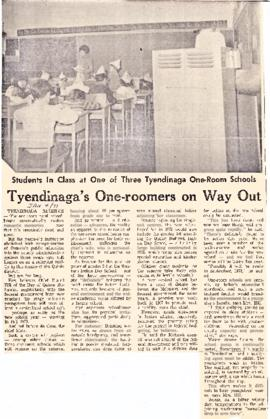 Articles relating to the construction of Quinte Mohawk School