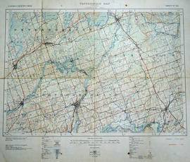 Topographical Map of Ontario - Campbellford sheet