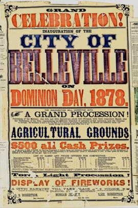 1878 City of Belleville celebrations banner