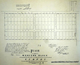Plan of Weaver's Block in the Township of Sidney