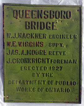 Queensborough bridge plaque
