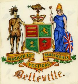 A coat of arms for the City of Belleville, Ontario.