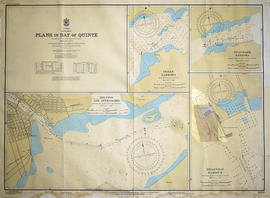 Hydrographic Map of Plans in Bay of Quinte