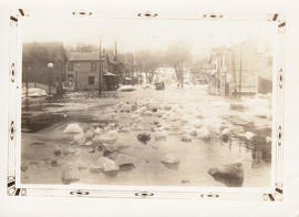 Photographs of Belleville floods and maps of Prince Edward County