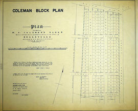 Plan of Coleman Block in Belleville