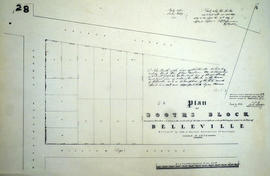 Plan of Booth's Block in the town of Belleville