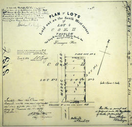 Finnegan Plan of Lots in the Township of Thurlow