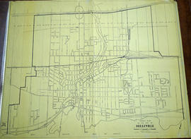Street Plan of the City of Belleville in 1960