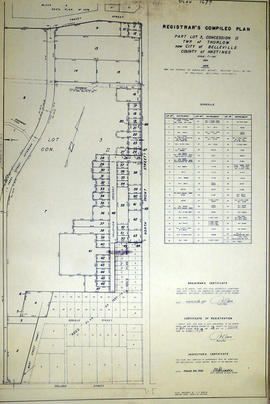 Registrar's Plan of part of Lot 3 in the Township of Thurlow