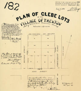 Plan of Glebe Lots in the village of Trenton