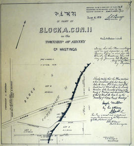 Plan of part of Block A in Sidney Township