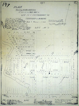 Subdivision of west Lot 2 in the village of Madoc