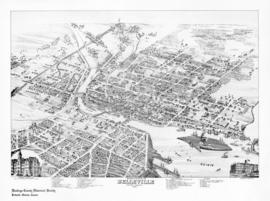 Bird's Eye View Map of Belleville