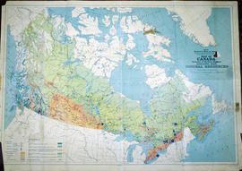 Map of Canada indicating Natural Resources