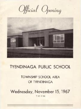 Program for official opening of Tyendinaga Public School