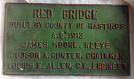 Red Bridge plaque