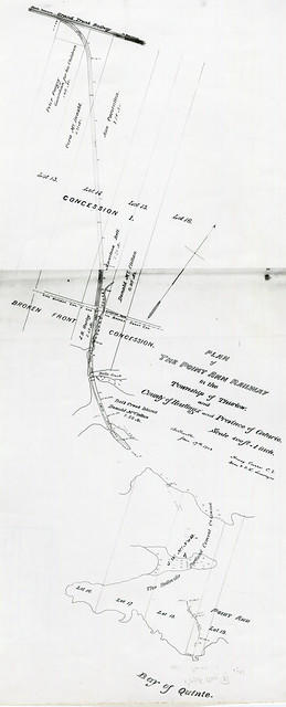 Reproduced plan of Point Ann Railway