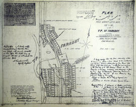 Plan of subdivision of Grant Lots 63-66 in Bancroft