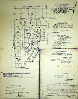 Re-subdivision of Lots 12-16 in the Township of Thurlow