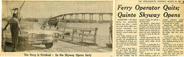 Newspaper clipping about opening of the Skyway Bridge