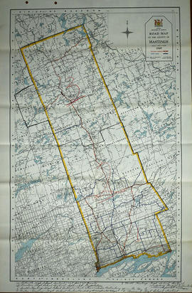 Road Map of Hastings County 1949