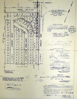Subdivision of part of Lot 10 in the Township of Thurlow