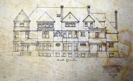 Digital photographs of architectural drawings of proposed home in Deseronto