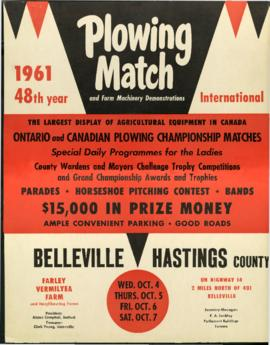1961 Internatinal Plowing Match Poster