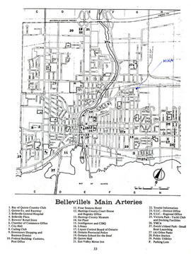 Map of the Belleville Main Arteries