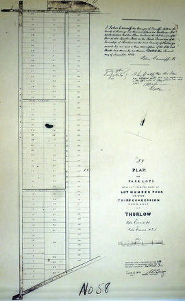 Plan of subdivision of Lot 4 in the Township of Thurlow