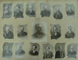 Collage of photographs of members of the Town Council of Deseronto, Ontario