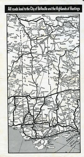 Road Map of Hastings and Prince Edward Counties