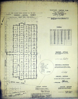 Registrar's Plan of Lot 29 & 69 in the Township of Sidney