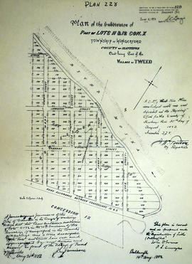 Subdivision of Lots 11-12 in the Village of Tweed