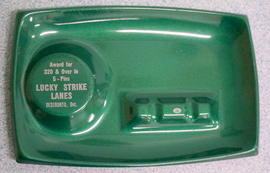 Lucky Strikes ashtray