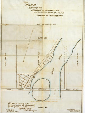 Plan of Plainfield village 1875