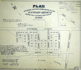 Subdivision of the Hawley Estate in the Township of Murray